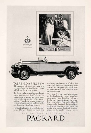 Collie Packard Ad